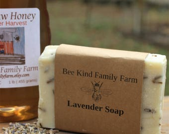 Lavender Soap cold Process Soap made with Honey and Beeswax