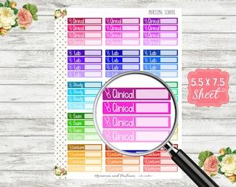 Nursing School / Lab / Exam / Clinical Planner Sticker - Clinical Sticker - Nursing Sticker - Nurse Sticker - Nursing Student Sticker - T114