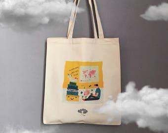 My Whole Money vs Places I Want to Go Canvas Tote Bag, Shopper, Shoulder Bag, Fair Trade, Gift for Her, Shopper Bag, Gabardine Bag, Holiday