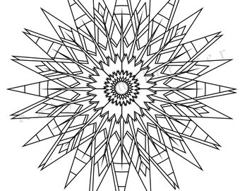 Sun Pattern | Adult Coloring Page