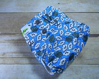 Cranky Clouds OS Ai2 w/ Bamboo Insert Cloth Diaper All in Two