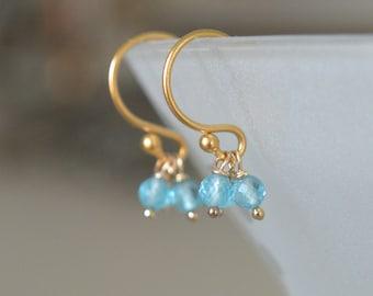 Sea Blue Apatite Earrings