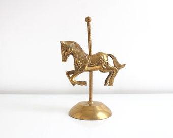 Brass Carousel Horse, Carousel Figuirne, Brass Carousel, Brass Horse Figurine, Horse Figurine, Carousel Bookend, Horse Bookend, Brass Decor
