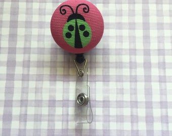 Lady Bug Badge, Badge Reel, Lady Bug Badge Holder, Retractable Badge, Nurse Badge, Student Badge, Teacher Badge, Employee Badge, Badge