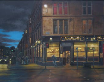 Tennents Bar, Glasgow. Art Print.