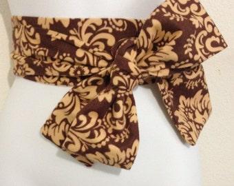 Kimono Obi Belt Sash One Size Brown/Tan