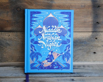 Hollow Book Safe - Aladdin and the Arabian Nights- Leather Bound Book Safe