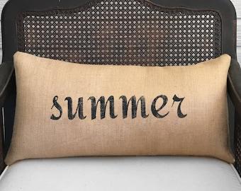 Seasons  Burlap  Pillow - Your choice of a Winter Pillow - Fall Pillow - Summer Pillow - Spring Pillow - Four Seasons - fall decor