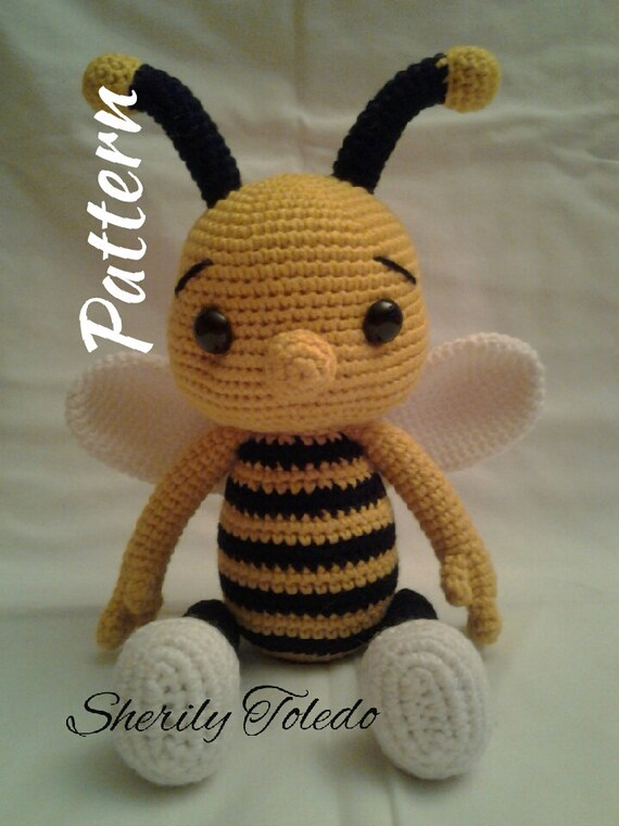 Pattern Baby Bee Bumble Crochet Amigurumi Pattern