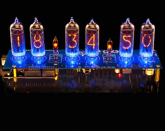IN-14 Nixie Tubes Clock Arduino Shield NCS314 hw2, Remote, GPS, Temp. [With Tubes]