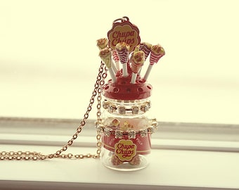 Chupa Cups lollipops necklace