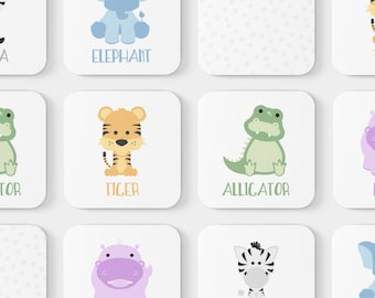 Animal Match Game | Toddler Game | Memory Game | Educational Toy | Toddler Gift | Zoo Animals | Learning Game | Baby Shower Gift