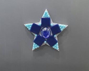Star magnet, fridge magnet, Mosaic magnet