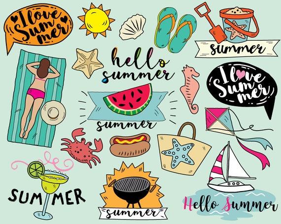 i love summer clipart vector beach clipart sailboat clipart rh etsystudio com summer vacation clipart images free summer vacation clipart