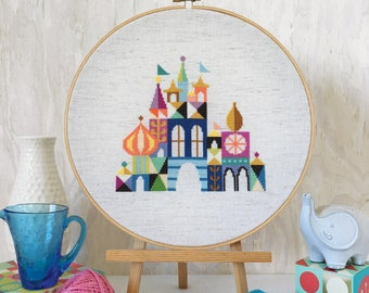 Pretty Little City - Colorful Castle - Satsuma Street Cross stitch pattern PDF - Instant download