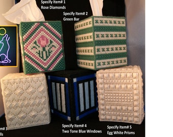 Various Theme Design Needle Point Tissue Boxes  CLEARANCE