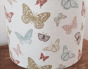 Handmade butterfly drum lampshade