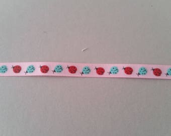 Gros Grain - Ladybug - insect - 10 mm Ribbon