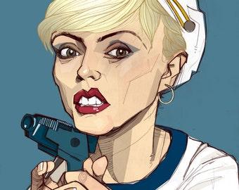 Debbie Harry from Blondie Illustrated Portrait Art Print