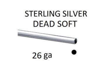 925 Sterling Silver  26ga (0.41mm) Dead Soft Round Wire Jewellery Wire Wrapping