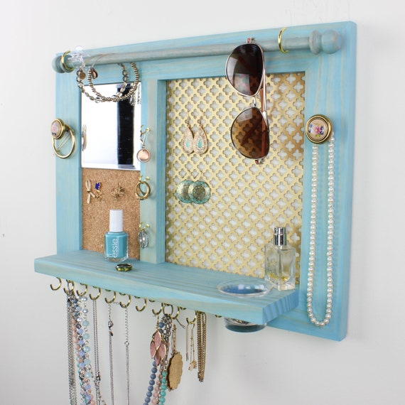 Home and Living Decorative Wood Jewelry Organizer Wall |Wooden Wall Jewelry Organizer