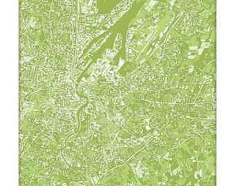 Belfast Cityscape Print / Ireland Map Wall Art / 8x10 Graphic Art Print / Choose your color
