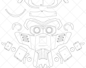 Peter Quill Star-Lord Mask - A4 & Letter Size PDF Template
