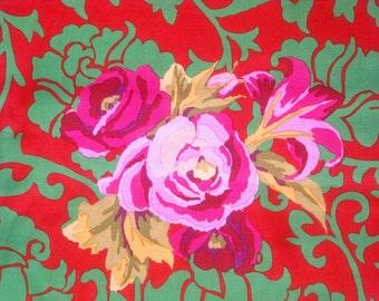 Kaffe Fassett Brokade Floral red green Westminster Rowan Fabrics GP 68 FQ or more