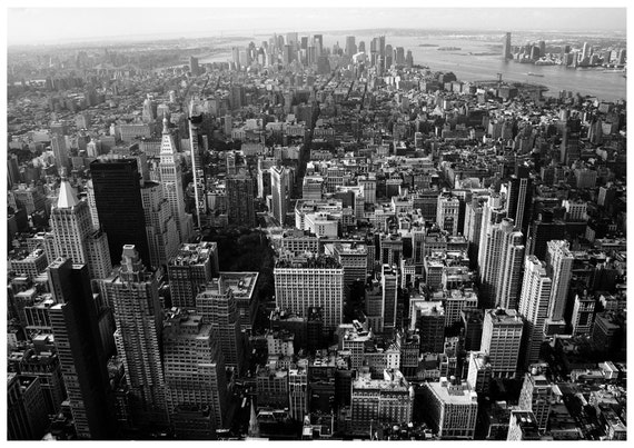 Items similar to manhattan black and white photograph new york city photograph wall decor nyc poster on etsy