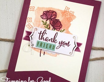 Pretty Thank You Handmade Greeting Card - Stampin' Up Share What You Love