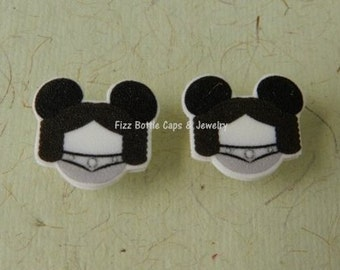 Princess Leah Mouse Head Ears Nickel Free Post Earrings