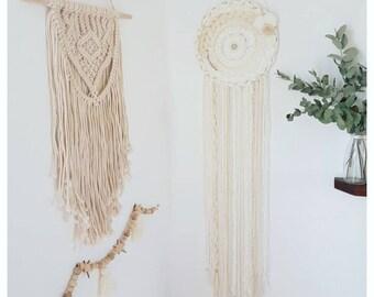 Circular weaving / April lace Dreamcatcher