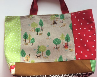Red Riding Hood Patchwork Tote
