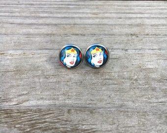 Wonder women stainless steel earrings