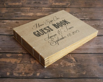Personalized Large Custom Rustic Wedding Guest Book - Create Your Own Wedding Heirloom Book, Anniversary Gift
