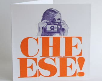 Cheese ! - Letterpress Printed Greetings Card