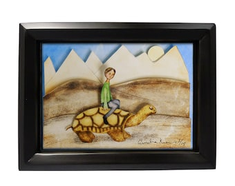 Turtle Boy - Limited Edition Shadow Box Wall Art
