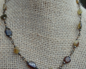Tourmaline in Autumn Colors Necklace #40