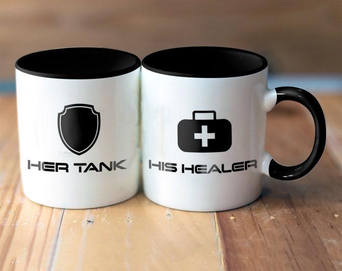 Tank Healer Matching Mugs