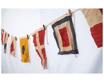 Vintage Bunting 5 Flag Garland