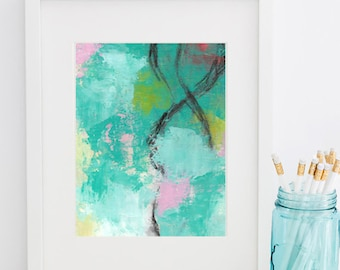 Taffy- Cold Wax Painting - 8x10 Matted