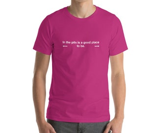 In The Pits, Magenta Hanky Code, Short-Sleeve Men's T-Shirt