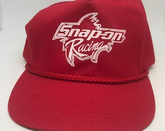 VTG 90s Snap On Racing Red rope snapback hat