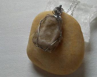 Rough Druzy Agate necklace