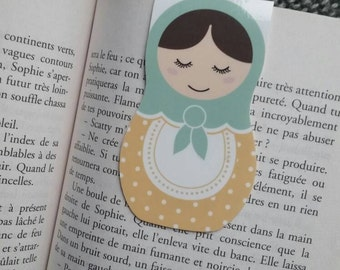 Matryoshka / / 1 magnetic bookmark