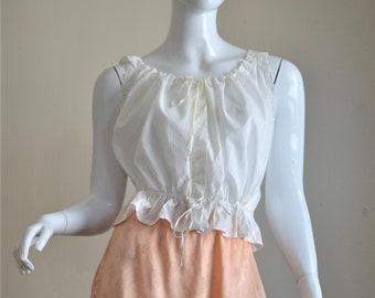 Victorian White Romantic Cotton & Eyelet Corset Cover
