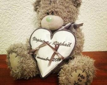 Porte-alliances avec un ours  coussin alliances pour enfant mariage thème enfance me to you