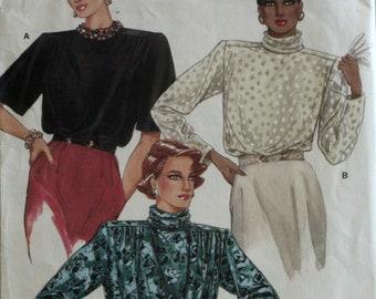 Misses Blouse Sewing Pattern - Vogue 9445 - Size 8 - 10 - 12