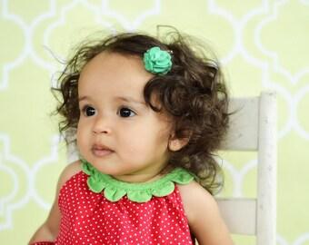 Baby Hair Clip Toddler Hair Clip Felt Flower Hair Clip Baby Bow Hair Bow Baby Girl Little Small Clippie Infant Feltie Mint Pink Purple White