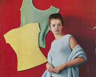 "Bronte 513 Vintage Knitting Pattern Original Shells and Wrap 32"" - 38"" Bust"